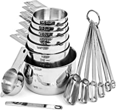 Hudson Essentials Stainless Steel Measuring Cups and Spoons Set (15 Piece Set)