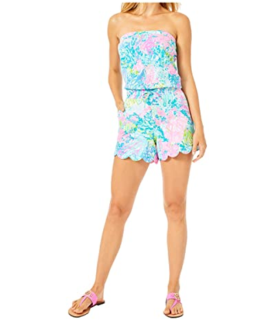 Lilly Pulitzer Jace Romper (Multi Fished My Wish) Women