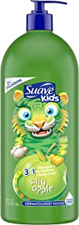 SUAVE HAIR Kids Silly Apple 3 In 1 Shampoo Conditioner Body Wash, 40 Ounce