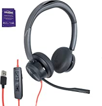 $190 » Plantronics (Poly) Blackwire 8225 Premium Wired UC Headset Bundle with Headset Advisor Wipe (USB-A)