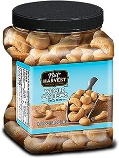 Nut Harvest, Lightly Salted Whole Cashews, 24oz Jar