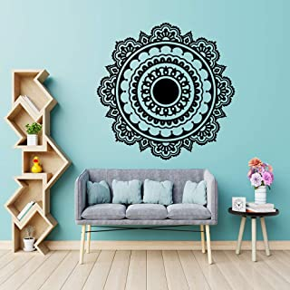 WSNDGWS Exquisite Mandala Buddhism India Wall Sticker for Living Room Removable Vinyl Stickers Mural House Decoration Wallpaper Gold M 30cm X 29cm
