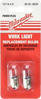 Milwaukee 14.4V Worklight Bulb, Pack of 2 (49-81-0020)