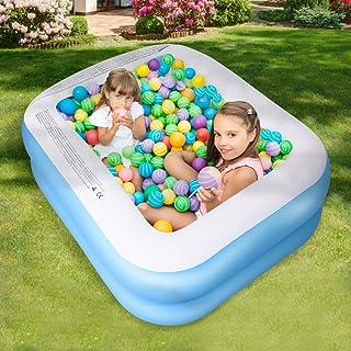 SEAAN Inflables de la Piscina, Juguete de Rociado de Agua de Jardín para Juegos al Aire Libre de Verano, Piscina Gruesa de Bolas Marinas Resistentes al Desgaste para el Hogar