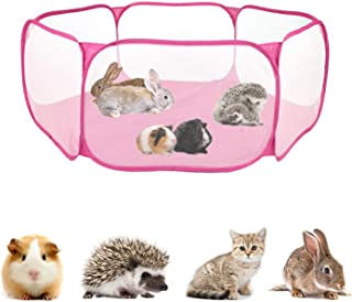 Vehomy Hamster Exercise Playpen Portable Pet Playpen Indoor Outdoor Foldable Yard Fence for Small Animal Guinea Pig, Rabbits, Hamster, Chinchillas, Hedgehogs, Gerbil