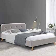 Artiss Double Bed Frame Fabric - Beige