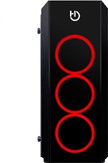 Hiditec NG-RX RGB Midi-Tower Negro - Caja de Ordenador (Midi-Tower, PC, SECC, Vidrio Templado, ATX,Micro-ATX, Negro, Juego)