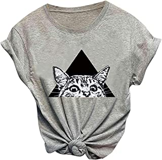 Gift for Women Ladies Summer T-Shirt UK Plus Size 10-18 Anti Animal Cruelty Club Fashion Tops Casual Tee Womens T-Shirts Large Size Clothings Short Sleeve O-Neck