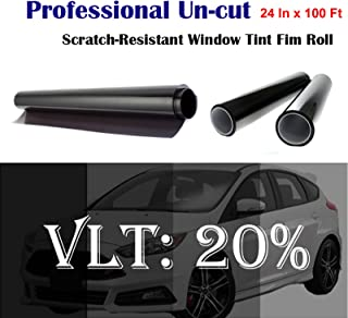 Mkbrother Uncut Roll Window Tint Film 20% VLT 24 In x 100 Ft Feet Car Home Office Glass