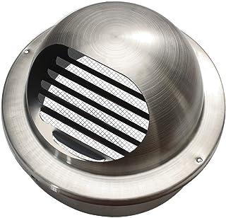 MB623 - Edelstahl Ablufthaube Lüftungsgitter in 18 Ausführungen/Varianten rund Rohranschluss Durchmesser 60mm