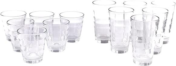 Becher-Set Gl/äer-Set WAVE 2 6x Whiskey Glas 6x Longdrink 12-tlg