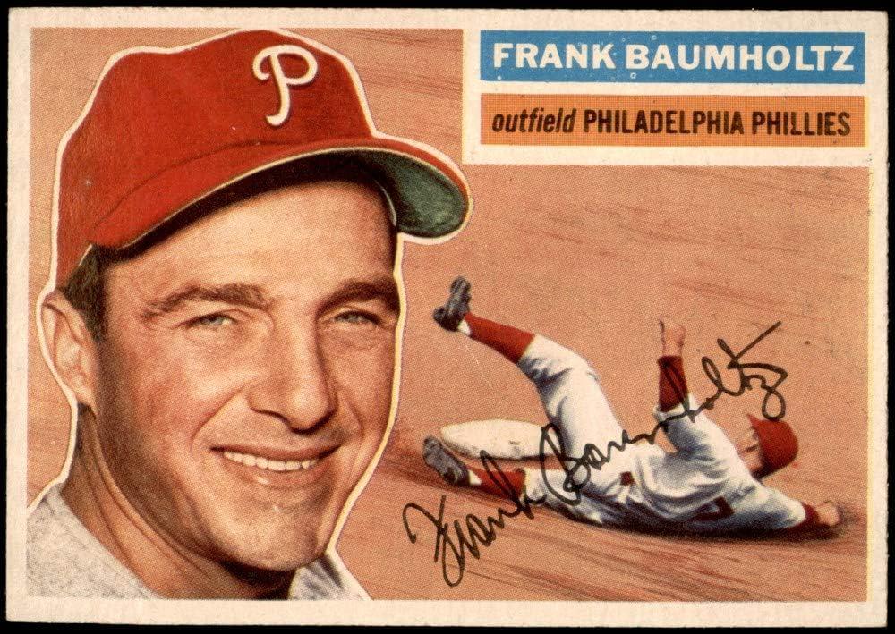 Max 73% Max 86% OFF OFF 1956 Topps # 274 Frank Phillies Philadelphia Baseball Baumholtz