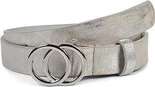 styleBREAKER Cintura da donna Unicolore con fibbia ad anello, cintura per i fianchi, cintura per i fianchi, cintura in vit...