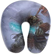 Return to dust World of Warcraft Orc Warrior U-Shaped Neck Pillow, Travel Neck Pillow - Breathable and Comfortable Memory Cotton
