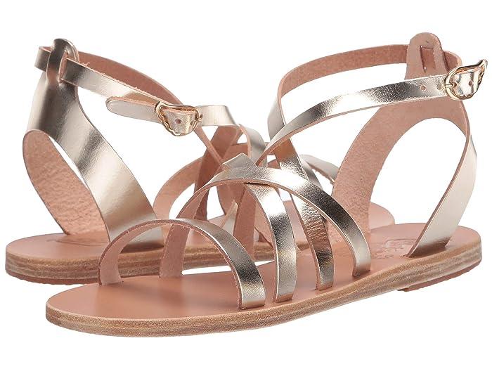 Ancient Greek Sandals  Delia (Platinum/Platinum) Womens Shoes