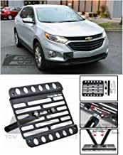 Extreme Online Store Replacement for 2018-Present Chevrolet Equinox Chevy   EOS Plate Version 1 Front Bumper Tow Hook License Plate Relocator Mount Bracket Tow-449 (Mid Size)