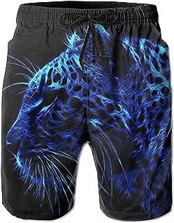 Star Harbor Traje de baño Azul de Leopardo para Hombre, Pantalones Cortos de Playa de Secado rápido, Pantalones Cortos, Tr...