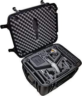 Case Club Waterproof DJI Inspire 2 Drone Wheeled Case with Silica Gels to Help Prevent Rust