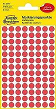 Avery 32-301 Self Adhesive Dots/Circle Labels - Red (Diameter 8 mm, 70 Labels per Sheet, 560 Labels Total)