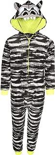 Boy's Micro Fleece Onesie Pajamas with Character Hood
