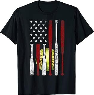 American Flag Softball Shirt 4th of July Pride