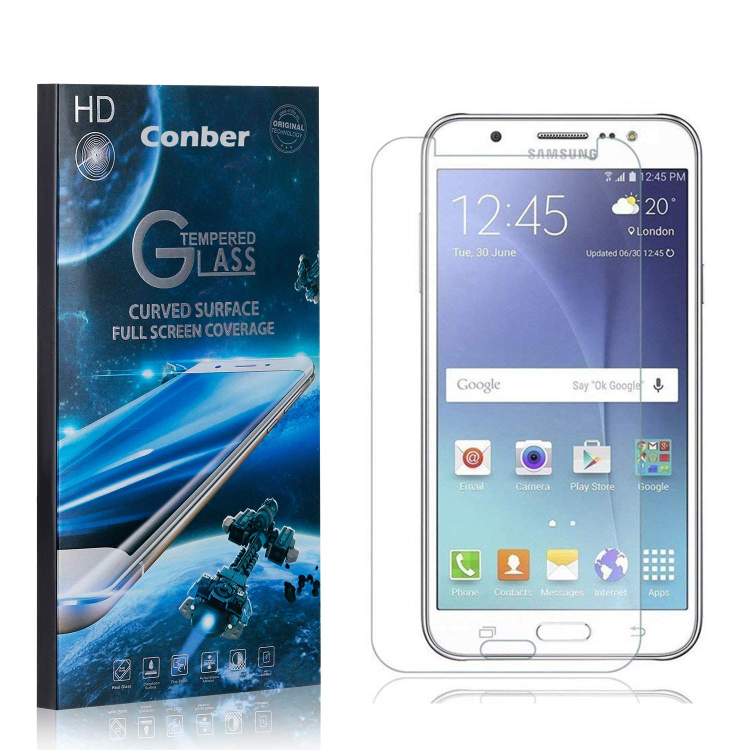 price Conber 1 Pack Screen Protector for J7 Sc Galaxy Samsung 2016 Limited price