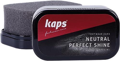 Kaps Perfect Shine, Éponge de Cirage à Chaussures pour Brillance Instantanée, Chaussures Sacs & Autres Produits en Cu...