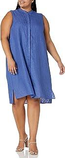 Anne Klein womens PLUS LINEN BUTTON DOWN DRESS Dress