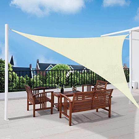 MGE 95% UV Sun Sail Shade Toldo Toldo Bloque Triángulo ...