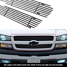 APS Compatible with 2003-2005 Silverado 1500 2003-2004 2500 2003-2006 Avalanche Black Billet Grille Grill Insert N19-H71756C