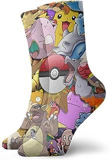 sky feng, Calcetines de anime Pokemon suaves de secado rápido transpirable calcetines deportivos unisex de la tripulación de 30 cm