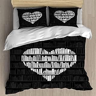 Book Lover Duvet Cover Set Bed Sheet Pillowcase Bedding Cotton Ultra Soft 3D Pattern Unique Art Design Full Set Duvet Cover - Twin/XL