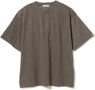 [ビームスライツ] Tシャツ スラブ天竺 ヘンリーネックTシャツ メンズ