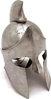 Medieval Warrior Brand 18G Steel Greek Spartan Helmet w/ Leather Liner