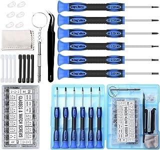 SOONAN Kit de Réparation de Lunettes à vis Micro avec Un brucelles, 500 Vis Lunettes +10 Plaquettes de Nez +7 Petits écrou...