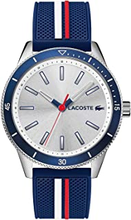 Lacoste Mens Quartz Watch, Analog Display and Silicone Strap 2011006