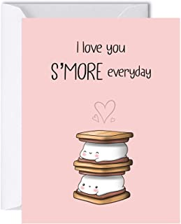Cute S'more Anniversary Card for Girlfriend Boyfriend, Birthday Card for Her Him, Greeting Card for Husband Wife