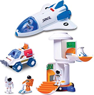 Astro Venture Space Playset - Toy Space Shuttle, Space Station & Space Rover with Lights and Sound & 2 Astronaut Figurine ...