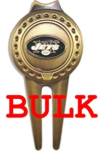 Bulk: 100 New York Jets Divot Tools with Golf Ball Markers