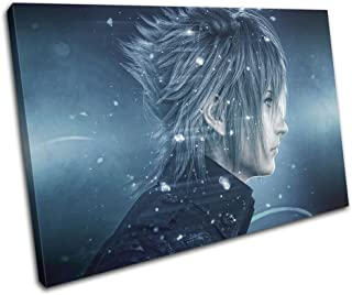 Bold Bloc Design - Final Fantasy XV Xbox ONE PS4 PC Gaming 90x60cm Single Canvas Art Print Box Framed Picture Wall Hanging - Hand Made in The UK - Framed and Ready to Hang