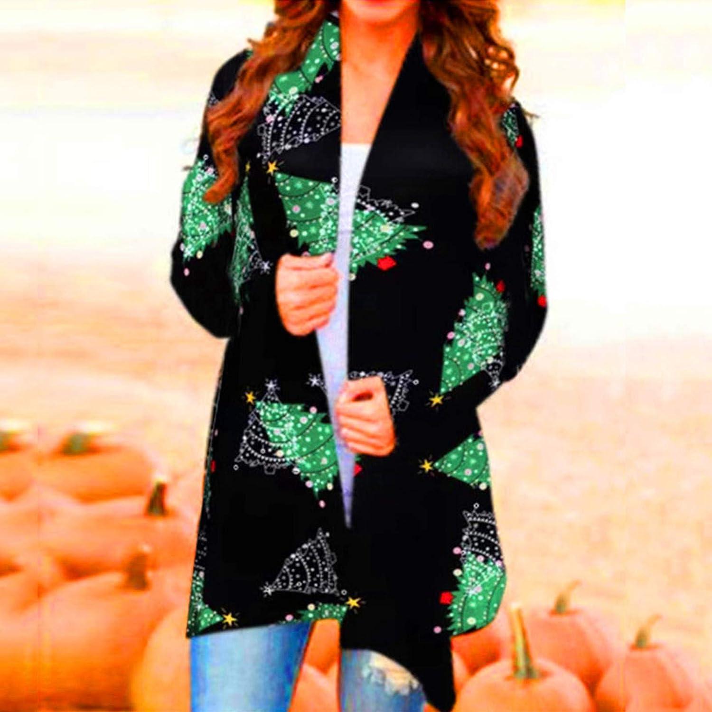 Women's Cardigan Coat,Halloween Cardigan Open Front Long Sleeve Sweater Coat Casual Jacket