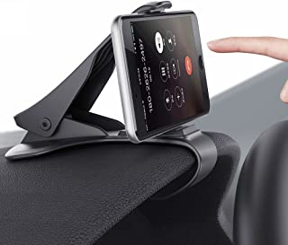Tsumbay Car Phone Holder Dashboard Cellphone Mount Mobile Clip Stand HUD Design for Smart Phone(3.0-6.5inch)