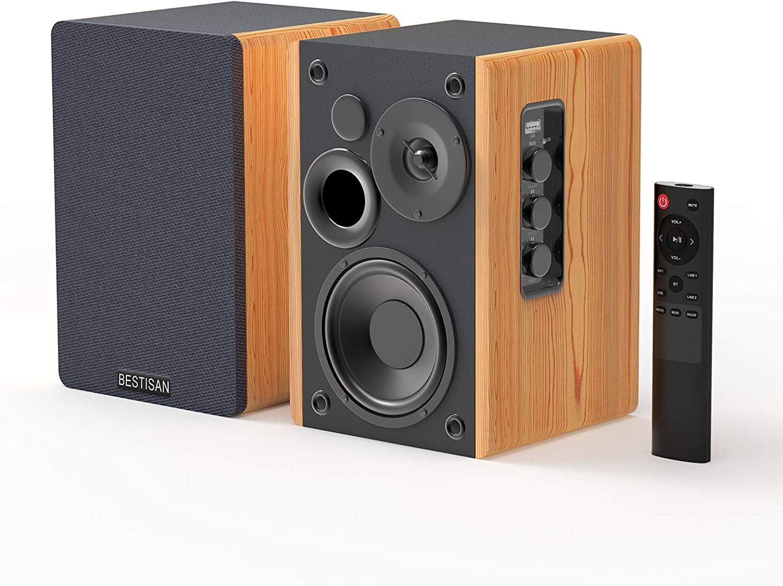 Buy BESTISAN Bookshelf Speakers, Bluetooth Bookshelf Speakers ...