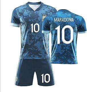 Koconh Diego Maradona #10 Argentina Home Soccer Jersey Commemorative Football Jersey Set 1986 Argentina World Cup Football Commemorative T Shirt - The Left Hand of God Forever, 2020 Away, XXL