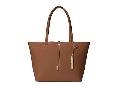Vince Camuto Leila Small Tote (Cognac) Tote Handbags