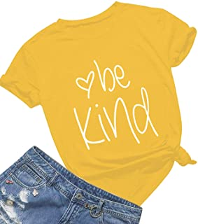 4dc1454031e Be Kind T Shirts Women Cute Graphic Blessed Shirt Funny Inspirational  Teacher Fall Tees Tops. tshirtsforacause ecohalf