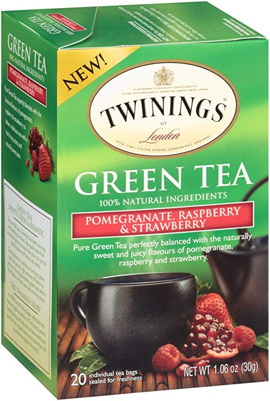 Twinings Green Pomegranate Raspberry And Strawberry Bagged Tea 40 Count