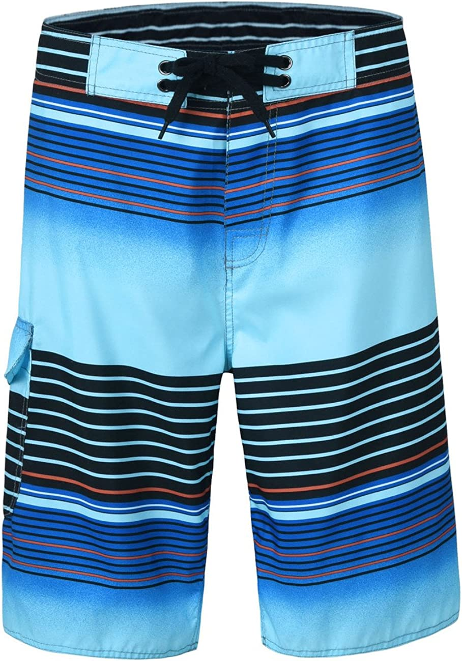 unitop Men's Board Shorts Summer Holiday Surf Trunks Quick Dry