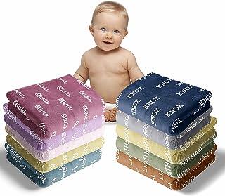 Mantas de bebé personalizadas para niñas con nombre, manta de bebé con nombre, mantas de bebé recién nacido suave - manta personalizada para bebé nombre manta - bebé manta personalizada