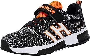 Goalsse Zapatillas Deportivas Niños Zapatillas de Running Casual Zapatos Deporte Transpirables Calzado con Velcro para Niño, Niña, Junior 26-37